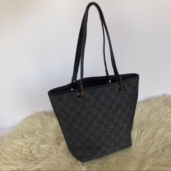 6cdc70dc6047f6 Gucci Bags | Vintage Denim Monogram Canvas Mini Tote Bag | Poshmark